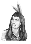 American Indian Drawings - Mingo Ed Ames by Murphy Elliott