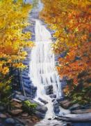 Falls Paintings - Mingo Falls by Shirley Braithwaite Hunt