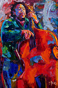 Jazz Paintings - Mingus by Debra Hurd