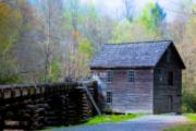 Grist Mill Digital Art - Mingus Mill Dreamed by Irene Abdou
