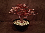 Wire Tree Sculpture Prints - Mini Bonsai Number 2 Print by Aleksandr Rakhlin
