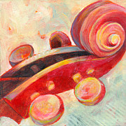 Music Art Painting Originals - Mini Cello by Susanne Clark
