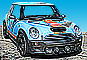 Samuel Sheats Posters - MINI Cooper Competition Poster by Samuel Sheats