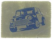 Classic Cars Digital Art Framed Prints - Mini Cooper Framed Print by Irina  March