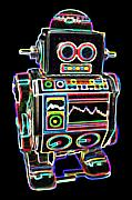 Robot Metal Prints - Mini D Robot Metal Print by DB Artist