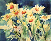 Blooming Paintings - Mini Daisies by Sharon K Wilson