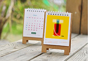 Desk Digital Art Originals - Mini Desk Calendar 2013 by Uday Khatri