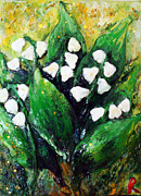 Lilies Sculpture Posters - Mini lilies of the valley Poster by Raya Finkelson