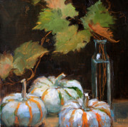 Pumpkins Paintings - Mini Pumpkins by Jacki Newell