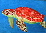Fish Underwater Paintings - Mini Turtle by JoAnn Wheeler