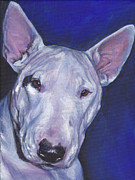 Miniature Paintings - Miniature Bull Terrier by Lee Ann Shepard