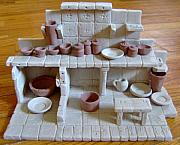 Pots Ceramics - Miniature Ceramic Kitchen by Anastasia Verpaelst