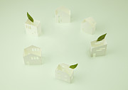Home Ownership Prints - Miniature Houses Print by sozaijiten/Datacraft