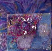 Miniature Moment Flowers Print by Anne-Elizabeth Whiteway