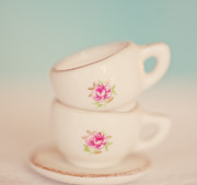 Teacup Photos - Miniature tea cup set by Carolyn Rauh