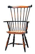 Armchair Framed Prints - Miniature Windsor Armchair  Framed Print by Olivier Le Queinec