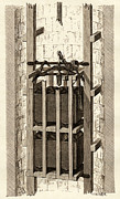 Simonin Prints - Mining Safety Cage, 19th Century Print by Sheila Terry