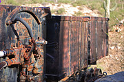 Ore Cart Prints - Mining Train Print by Donna Van Vlack
