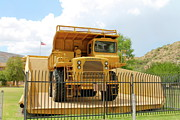 Large Sized Metal Prints - Mining Truck in Bed of Large Truck Metal Print by Pamela Walrath