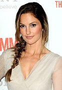 Fishtail Braid Posters - Minka Kelly At Arrivals For The Poster by Everett