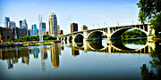 Mississippi River Scene Posters - Minneapolis Bridge Poster by Laurianna Murray