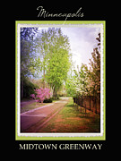 Mississippi Flowers Prints - Minneapolis Midtown Greenway Print by Heidi Hermes