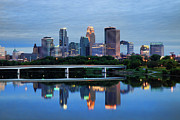 Minneapolis Skyline Prints - Minneapolis Reflections Print by Rick Berk