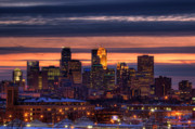 Twin Framed Prints - Minneapolis Skyline Framed Print by Shawn Everhart