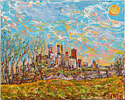 Beautiful Cities Originals - Minneapolis Spring Skyline by Patrick Ginter