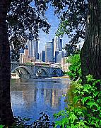 Minneapolis Skyline Prints - Minneapolis Through the Trees Print by Tom Reynen