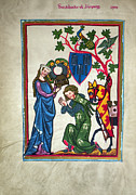 Kneel Framed Prints - MINNESINGER, 14th CENTURY Framed Print by Granger