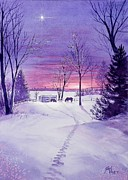 Stable Painting Originals - Minnesota Christmas by Gail Vass