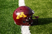Minneapolis Posters - Minnesota Football Helmet Poster by Bill Krogmeier