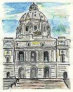 Minnesota Painting Originals - Minnesota State Capital by Matt Gaudian