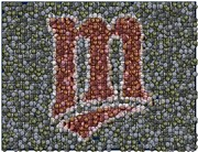 Mlb Art - Minnesota Twins Baseball Mosaic by Paul Van Scott