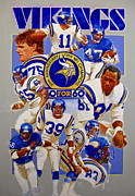 Vikings Originals - Minnesota Vikings 20th Anniversary  by Cliff Spohn