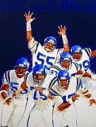 Sports Mixed Media Originals - Minnesota Vikings Front Four  by Cliff Spohn