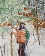 Snow Mixed Media Originals - Minnesota Winter by Terry Honstead
