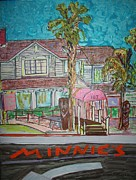 Tiki Bar Painting Prints - Minnie s Restaurant Print by James  Christiansen