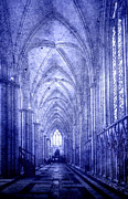 Church Pillars Posters - Minster in Blue Poster by Svetlana Sewell