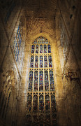 Pillars Digital Art Posters - Minster Window Poster by Svetlana Sewell