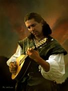Lute Digital Art - Minstrel Angelic by RC DeWinter