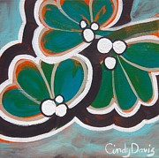 Modern Pop Art Prints - Mint-a-holic Print by Cindy Davis