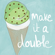 Ice Cream Prints - Mint Chip Print by Linda Woods