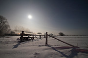 Vollmond Prints - minus 18 Grad Print by PhotoArt Hartmann