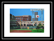 Baseball Painting Framed Prints - Minute Maid Park Framed Print by Leo Artist