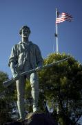 Minuteman Art - Minuteman Statue At Battle Green by Tim Laman