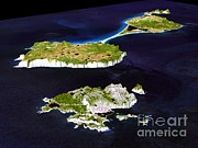 February Ocean Prints - Miquelon And Saint Pierre Islands Print by NASA / Science Source