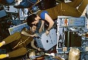 Astronauts Photos - Mir Space Station Cosmonauts, 1987 by Ria Novosti