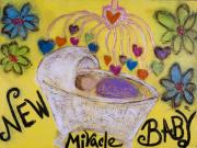 Print Card Sculpture Framed Prints - Miracle Baby Framed Print by Rochelle Carr